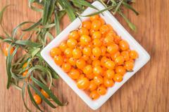 Sea-buckthorn berries Stock Photos