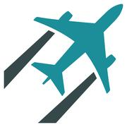 Stock Illustration of Air Jet Trace Flat Icon