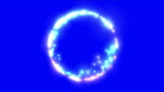 4k Circle fireworks ion ring particle background,round flare stars rays light. Stock Footage