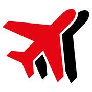 Airplanes Flat Icon - stock illustration