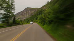 Driving Montana Glacier Park - stock footage