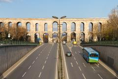 Valens Aqueduct from Istanbul, Turkey Stock Photos