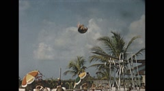 Vintage 16mm film, 1956, Key West, highboard dive real time and two slow-mo Stock Footage