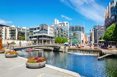 Mmodern residential district in Oslo, Norway, Scandinavia - stock photo