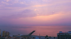 Pink morning on the Spanish Costa Blanca Stock Footage