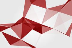 geometrical abstraction on white background - stock illustration