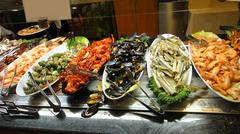 Food seafood restaurant on the buffet - stock photo