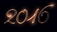 New Year sign 2016 Stock Footage