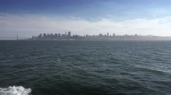 San Francisco Skyline from Tourboat Stock Footage