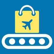 Baggage Conveyor Flat Icon - stock illustration