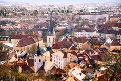 Stock Photo of Arial view on Ljubljana city