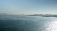 Extreme Wide Shot of San Francisco from Gold Gate Bridge Stock Footage