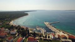 Aerial - Small Croatian coastal village Stock Footage