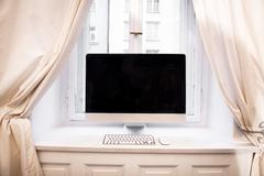 Personal computer at home Stock Photos