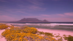 View across table bay to table mountain, cape town, south africa Stock Footage