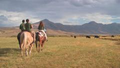Horseback riding at the 71 Ranch in northern Nevada Stock Footage