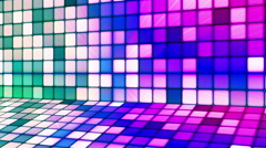 Broadcast Twinkling Hi-Tech Cubes Stage 13 - stock footage