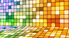 Broadcast Twinkling Hi-Tech Cubes Stage 15 - stock footage