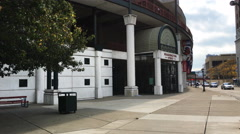 Coca-Cola Field in Buffalo, New York, home of the Buffalo Bisons Stock Footage
