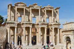 Library of Celsus in Ephesus, Turkey Stock Photos