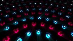 VJ Loop Color LEDs 2 - stock footage