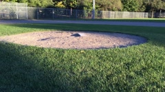 Crane up pitchers mound - baseball field Stock Footage