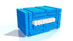 Colorado state cities list Stock Illustration
