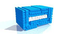 Arizona state cities list Stock Illustration