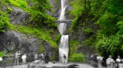 Oregon Multnomah Falls Stock Footage