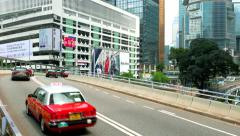 HONG KONG - October 2015: Traffic in modern city centre. 4K resolution. Stock Footage