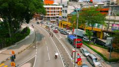 KUALA LUMPUR - September 2015: Kuala Lumpur traffic in Chow Kit. 4K speed up. Stock Footage
