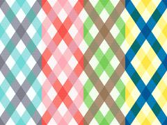 Rhombus seamless pattern with motley stripes Stock Illustration