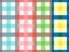 Rectangular seamless pattern with motley stripes - stock illustration