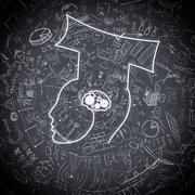 Stock Illustration of Graduate  mechanism