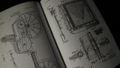 Panning of Book Text Schematic  Stock Footage
