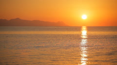 Beautiful sunrise on the island of Santorini Stock Footage