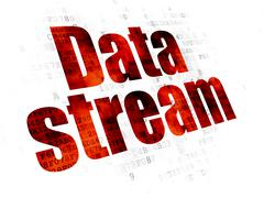 Data concept: Data Stream on Digital background Stock Illustration