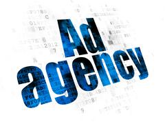 Stock Illustration of Marketing concept: Ad Agency on Digital background