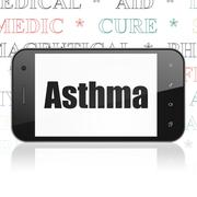 Stock Illustration of Healthcare concept: Smartphone with Asthma on display