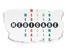 Healthcare concept: Medicare in Crossword Puzzle - stock illustration