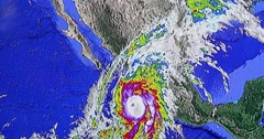 Satellite Radar Of Hurricane Patricia 4k Stock Footage