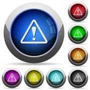 Stock Illustration of Warning button set