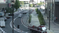 Streets of Osaka Japan Stock Footage