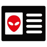 Stock Illustration of Alien Account Card Flat Icon