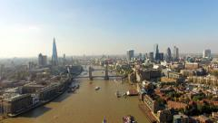 The New London Skyline Aerial Video Stock Footage
