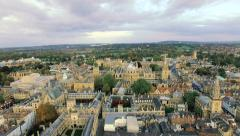 4K Aerial View Video of Oxford University Stock Footage