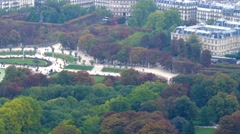 Paris, Luxembourg garden Stock Footage