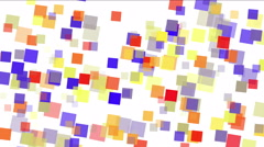 4k Square fragment mosaic paper debris background,abstract rectangular particle Stock Footage