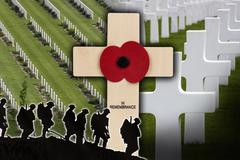 War Cemetery - Remembrance - War Graves - stock photo