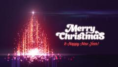 Merry Christmas and Happy New Year Greeting intro card template. Stock Footage